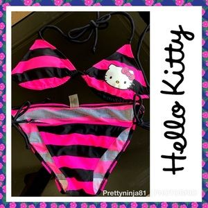 Other - Hello kitty string bikini size small pink & black